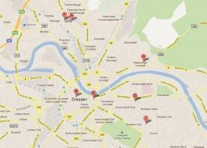 """Es gibt 7 Suchtreffer für die Suche nach """"SharePoint Dresden"""" in Google-Maps."""